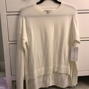 Athleta NWT Cross back sweater